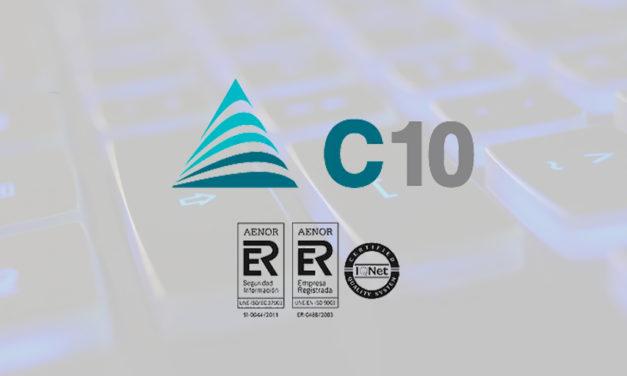 C10 renueva los CERTIFICADOS ISO DE SEGURIDAD Y GESTIÓN DE CALIDAD